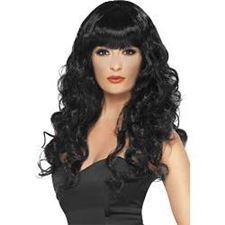 siren-wig/black/long-curly/bag