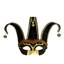 unisex-black-jolly-mask-decoratedwith-gold--black