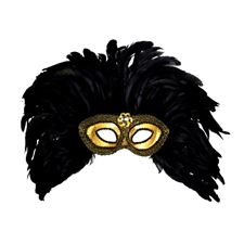 gold-trimmed-eyemasks-with-gem--feathers